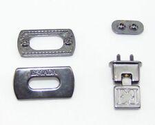 Taschenverschluss Schließe 1,6 x 3,1 cm  anthrazi