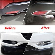 New listing Front + Rear Fog Light Lamp Chrome Cover Trim For Honda Vezel Hr-V Hrv 2014-2016