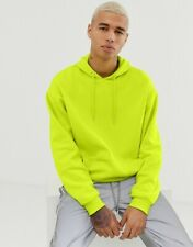 ASOS DESIGN oversized hoodie in acid lime, Size XS, men ,woman