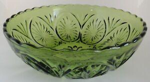 Vintage Avocado Anchor Hocking Star Glass Bowl