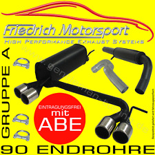 FRIEDRICH MOTORSPORT DUPLEX KOMPLETTANLAGE Opel Corsa C 1.0 1.2 1.3 1.4 1.7 1.8