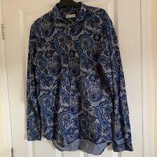 Etro New Season Paisley Pattern Print Long Sleeve Button Up Shirt
