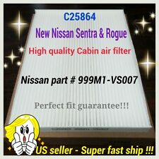 For Rogue Sentra Premium Quality Cabin Air Filter C25864 Perfect Fit Guarantee!