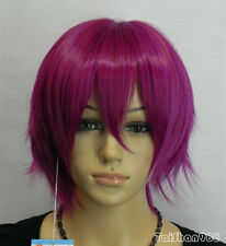 Hot Sell Fashion Short Lavender Mauve Straight Women's Lady's Hair Wig Wigs +Cap