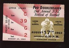 1963 Pro Football Doubleheader Ticket Stub
