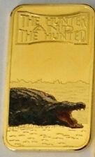 Somalia 2013 Goldplated Color Rectangular 25 shilling-Fauna-Crocodile