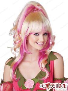 Sugar Spice Blonde Wig Fairy Ladies Fancy Dress Adult Costume Sugar Candy Pixie
