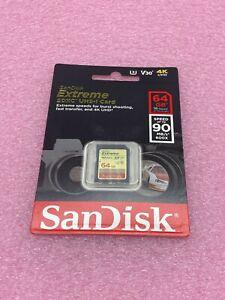 SanDisk 64GB SD SDXC Extreme 90MB/s Class 10 SDSDXVE-064G Camera Card