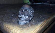 Bronze effect resin skull ornament