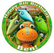 """Dinosaur Train Personalizzato Torta TOPER 7,5 """"wafer commestibile carta festa di compleanno"""