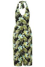 TopShop Women's Floral Sleeveless Viscose Jumpsuits & Playsuits