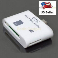 5 in 1 Multi-functional Micro USB Smart Card Reader Adapter For OTG Smartphone