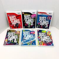Just Dance 1 2 3 4 Just Dance 2014 Summer Party Nintendo Wii Video Games Lot 6