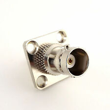 1x BNC Female Jack to SMA Female 4 Holes Flange Mount RF Coax Adapter Connector