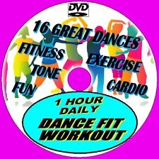 1 Hr Daily Dance Fit Workout 15 Grreat Fun Fitness Aerobic Cardio Routines DVD