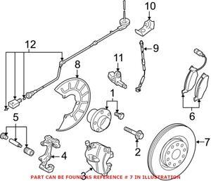 Genuine OEM Front Disc Brake Rotor for Volkswagen 5Q0615301F