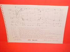 1973 CHEVROLET CAPRICE IMPALA CHEVELLE LAGUNA EL CAMINO FRAME DIMENSION CHART