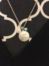 Aquarius Three Charm Necklace: Rhinestone, Pendant