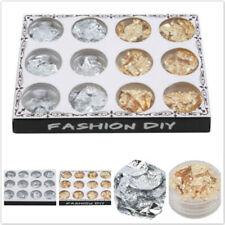 12 pcs Color NEW Nail Art Holographic Glitter Powder Laser Foil Supplies AL
