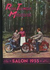 (12B)REVUE TECHNIQUE MOTO Spécial SALON 1955 / 125cc TERROT / 200cc MONET GOYON