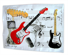 Fender Guitar Tea Towel - Guitar Student Gift - Music Themed Gifts for Musicians