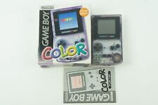 Nintendo Gameboy COLOR Clear Purple Console GBC Box From Japan