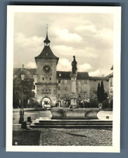 Suisse, Morat (Murten), Porte de Berne  Vintage silver print. Switzerland. Schwe