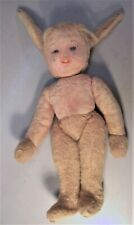 "Antique 12 inch Merrythought of England ""Bunny Girl"" Rabbit with Tag"