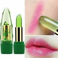 Women Aloe Vera Lip Color Mood Changing Lipstick Long Lasting Moisturizing~