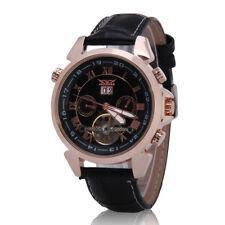 JARAGAR Herrenuhren Armbanduhr Edelstahl Mechanisch Datum Automatik Uhr Gold NEU