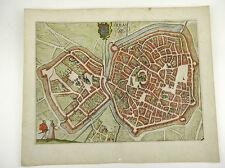 ARRAS NORD-PAS-DE-CALAIS FRANKREICH KOL KUPFERSTICH GUICCIARDINI 1609 AD #D884S