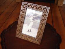 Antique chip carved wood table frame