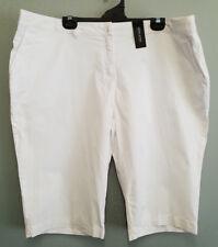 BNWT Ladies Sz 16 David Jones Brand Smart White Cotton Burmuda Casual Shorts