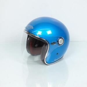 Helmet Jet Man Woman Taille L 59-60 Torx Salt Lake Rainbow Blue Gloss New