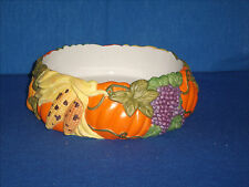 PartyLite P7409 Harvest Time 3-wick Candle Holder Thanksgiving