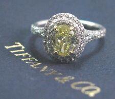 Tiffany & Co Platinum Fancy Intense Yellow Diamond Soleste Ring 1.24Ct FIY-VS1