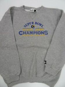 Super Bowl Champions St Louis Rams Grey Puma Sweat Shirt Men's Size L