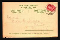 Finland 1905 Postcard to Ruhimaki / Bottom Pinholes - Z18077