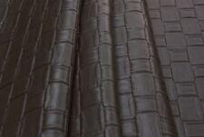 Tessuto Ecopelle Tappezzeria Intreccio Ebano mt.0.5x1.33-Leather Fabric