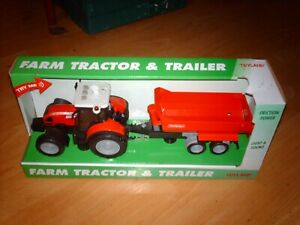Toyland Farm Tractor and tipping trailer friction powered + light sound 38 cm