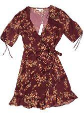Lovestitch Botanica Floral Red Wrap Midi Dress M