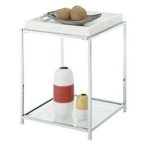 Convenience Concepts Palm Beach End Table, White - 131345W