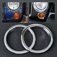 2x Triple Chrome Fog Lights Grille Trim Cover Decor fit for Jeep JK Wrangler