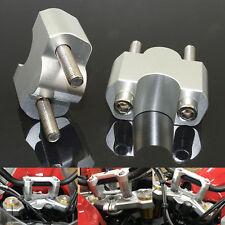 Argento Ø22mm manubrio rialzo adattatore riser +30mm per 16-19 BMW G310GS G310R