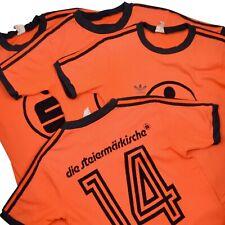VINTAGE '80 Adidas Trikot #14 5 7 8 Jersey Made in Ireland Orange Sport Fußball