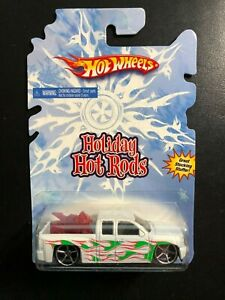 2008 Hot Wheels Holiday Hot Rods '07 Chevy Silverado w/red motorcycle
