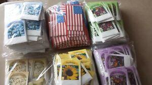 Flower Seed Packets, 4 varieties, Lots of 100.