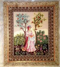 19th Century Framed Needlepoint Princess Framed Made in Italy