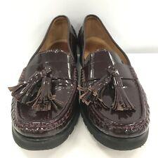 Jones Bootmaker Ladies Loafer Shoes UK 5.5 Burgundy Leather Casual Wear 301280