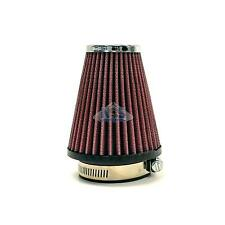 """S&B High Performance Cone Chrome Pod Universal Red 2-1/4"""" inlet 57mm Air Filter"""